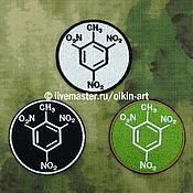 Сувениры и подарки handmade. Livemaster - original item patch TNT (TNT) (white/black/field). Handmade.