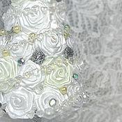 """Подарки к праздникам ручной работы. Ярмарка Мастеров - ручная работа Новогодняя елка """"Зимняя роза"""". Handmade."""