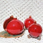 Для дома и интерьера ручной работы. Ярмарка Мастеров - ручная работа Набор для кухни Гранаты керамика. Handmade.