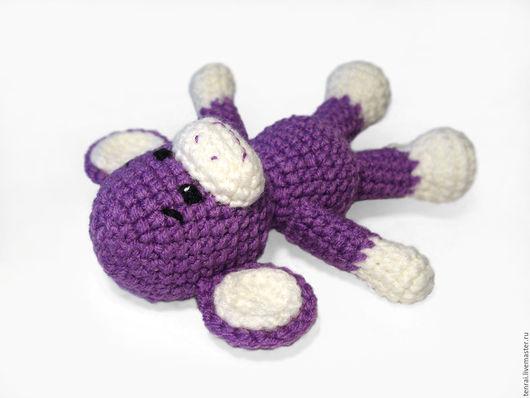 Игрушки животные, ручной работы. Ярмарка Мастеров - ручная работа. Купить Вязаная крючком игрушка Сиреневая и Бежевая обезьянка. Handmade.
