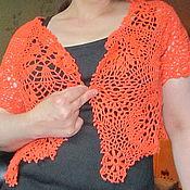 """Одежда ручной работы. Ярмарка Мастеров - ручная работа Жилетка """"Апельсин"""". Handmade."""