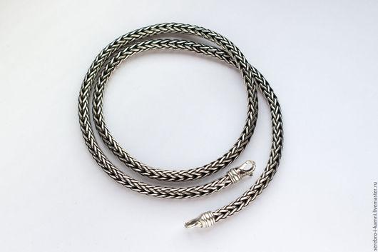 Украшения для мужчин, ручной работы. Ярмарка Мастеров - ручная работа. Купить Мужская серебряная цепь или браслет  Лисий хвост. Handmade.