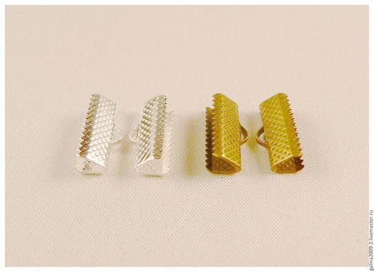 Для украшений ручной работы. Ярмарка Мастеров - ручная работа. Купить Концевик для ленты, 16 мм., за 1 пару.. Handmade.