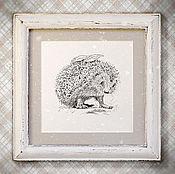 Для дома и интерьера handmade. Livemaster - original item the picture Forest hedgehog (in box, handmade, white, white). Handmade.
