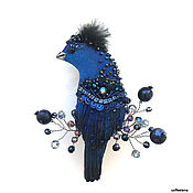 Brooches handmade. Livemaster - original item Brooch-bird