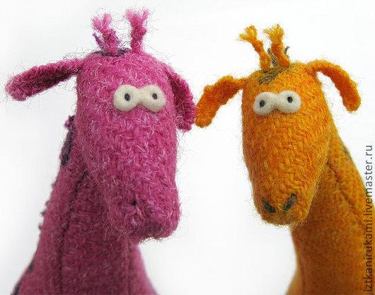 Игрушки животные, ручной работы. Ярмарка Мастеров - ручная работа. Купить ЖИРАФ. Handmade. Жираф, жирафа, игрушка, шерсть 100%