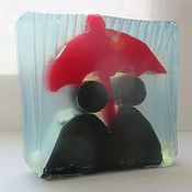 """Косметика ручной работы. Ярмарка Мастеров - ручная работа """"Один зонтик на двоих"""" (мыло). Handmade."""