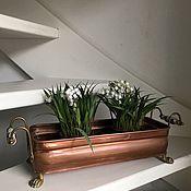 Винтаж handmade. Livemaster - original item Antique flower pots, copper, brass, Holland. Handmade.
