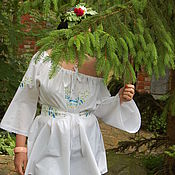 Одежда handmade. Livemaster - original item tunic: Tunic with embroidery