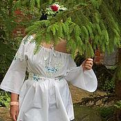 Одежда handmade. Livemaster - original item tunic: Tunic with embroidery