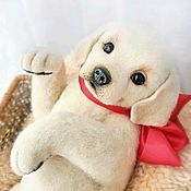 Щенок лабрадора Милочка, валяная игрушка из шерсти