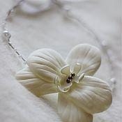 Украшения ручной работы. Ярмарка Мастеров - ручная работа Белая орхидея. Веночек-ободок.. Handmade.