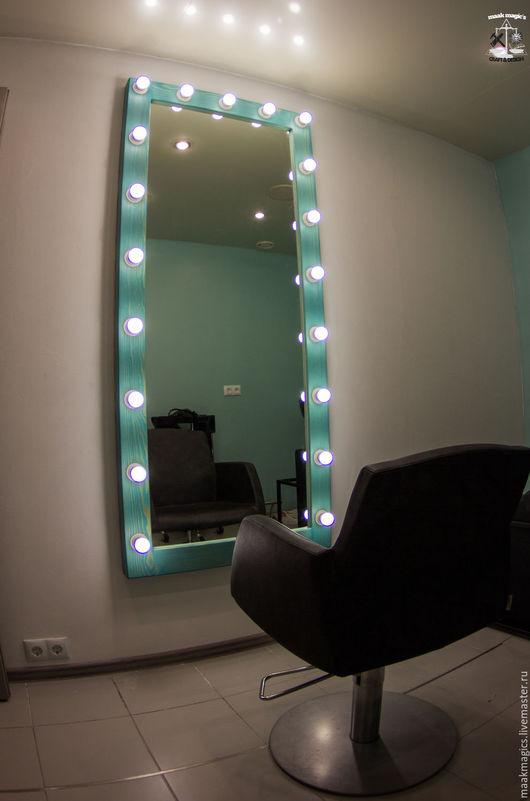 Зеркала ручной работы. Ярмарка Мастеров - ручная работа. Купить Гримерное зеркало Tiffany Blue Plus MAAK Magic's. Handmade.