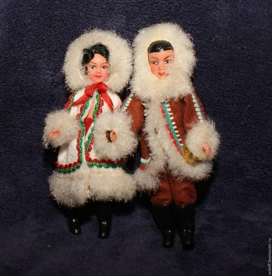 Винтажные куклы и игрушки. Ярмарка Мастеров - ручная работа. Купить Куклы из пластика Petitcollin Франция 168. Handmade. Комбинированный, эскимосы