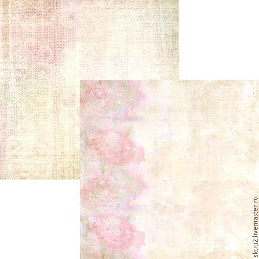 Открытки и скрапбукинг ручной работы. Ярмарка Мастеров - ручная работа. Купить Бумага для скрапбукинга Облако цветов. Handmade. Розовый, бумага