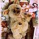 Мишки Тедди ручной работы. Ярмарка Мастеров - ручная работа. Купить Пломбирчик (мишка тедди). Handmade. Бежевый, тедди медведи