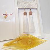 Свадебный салон handmade. Livemaster - original item Vanilla earrings brush. Handmade.