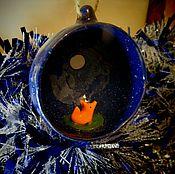 """Подарки к праздникам ручной работы. Ярмарка Мастеров - ручная работа Елочный шар """"Лис"""". Керамика.. Handmade."""