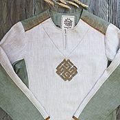 Одежда handmade. Livemaster - original item Men`s shirt combined. Handmade.