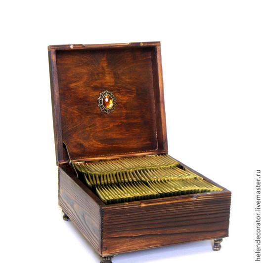 Шкатулки ручной работы. Ярмарка Мастеров - ручная работа. Купить Шкатулка-коробка «Чаепитие». Handmade. Коричневый, шкатулка деревянная