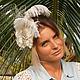 """Свадебная шляпка """"Jassi"""". Шляпы. ZHAKI HATS. Ярмарка Мастеров.  Фото №4"""