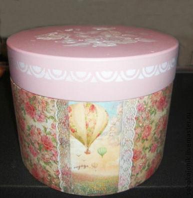 """Корзины, коробы ручной работы. Ярмарка Мастеров - ручная работа. Купить Шляпная коробка """" Романтическое путешествие"""". Handmade."""