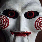 Костюмы ручной работы. Ярмарка Мастеров - ручная работа Маска Куклы Билли из фильма Пила. Handmade.