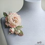 handmade. Livemaster - original item Silk flowers. A flower brooch is a Sprig of roses