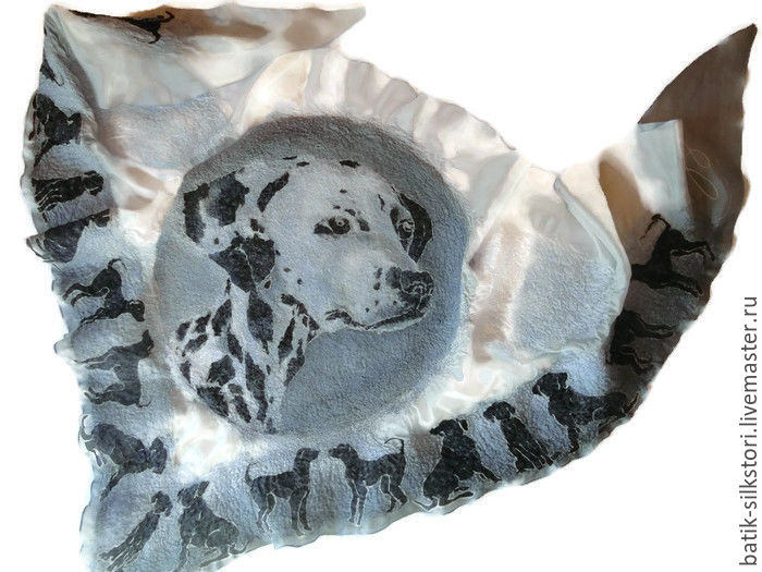 Batik Bacchus felted Pet, Shawls1, Moscow,  Фото №1