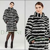 Одежда handmade. Livemaster - original item Coat under the black and white chinchilla. Handmade.