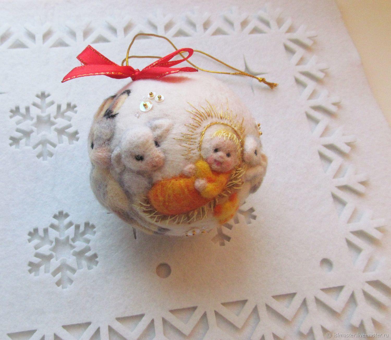 """Ёлочный шар """"Рождество"""", Елочные игрушки, Сегежа,  Фото №1"""