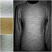 Одежда handmade. Livemaster - original item 100% linen cardigan for men scales long sleeve. Handmade.