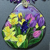 Украшения handmade. Livemaster - original item Pendant with lacquer miniature