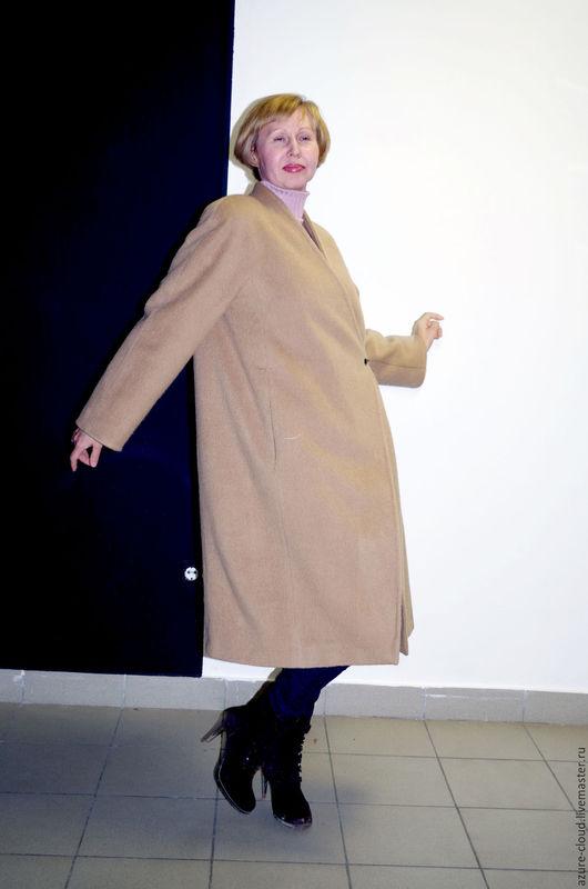 Верхняя одежда ручной работы. Ярмарка Мастеров - ручная работа. Купить Кашемировое пальто. Handmade. Бежевый, свободное пальто