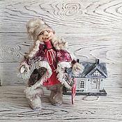 Куклы и игрушки handmade. Livemaster - original item New Year Doll collectible, interior.