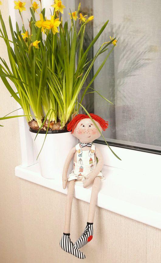 Человечки ручной работы. Ярмарка Мастеров - ручная работа. Купить Рыжий Лёлька. Handmade. Интерьерная игрушка, примитивная кукла