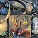 """Женские сумки ручной работы. Ярмарка Мастеров - ручная работа. Купить Сумка-карман  """"Поздняя осень"""". Handmade. Хаки"""