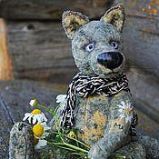 Куклы и игрушки handmade. Livemaster - original item Romashkina love...(collectible toy Teddy wolf). Handmade.
