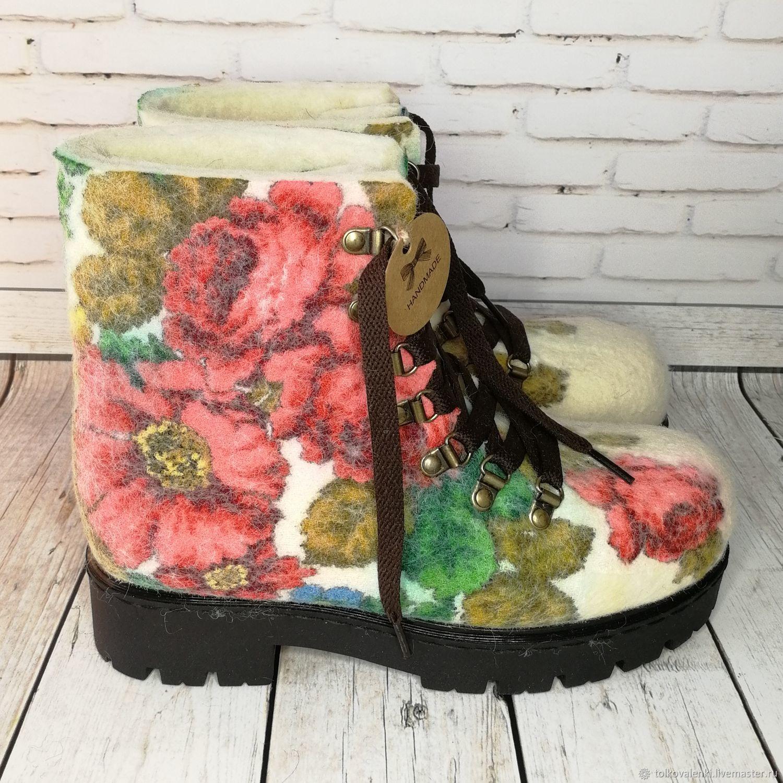 Ботинки Розы на снегу, Ботинки, Раменское,  Фото №1