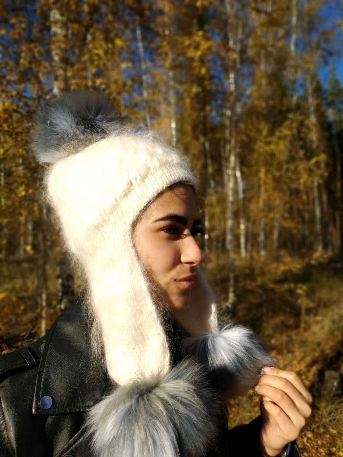 Down hat with earflaps ' Cutie', Hat with ear flaps, Voronezh,  Фото №1