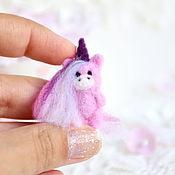 Куклы и игрушки handmade. Livemaster - original item Unicorn felted miniature. Handmade.