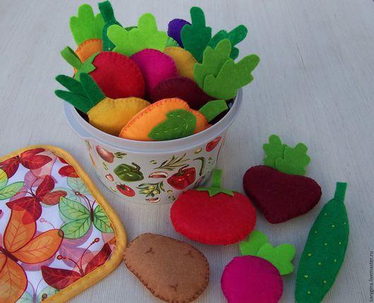 Развивающие игрушки ручной работы. Ярмарка Мастеров - ручная работа. Купить Овощи из фетра (развивающий игровой набор). Handmade. Комбинированный