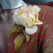 Украшения handmade. Livemaster - original item Brooch fabric flower rose. Handmade.