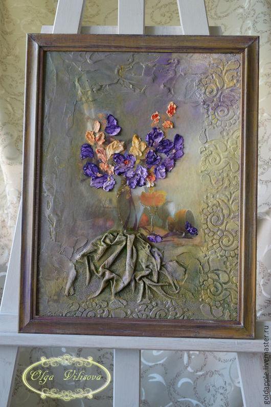 """Картины цветов ручной работы. Ярмарка Мастеров - ручная работа. Купить Картина  """"Очарование"""". Handmade. Декор, подарок, подарок подруге"""