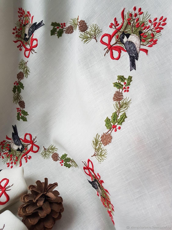 Вышивка скатерти на заказ коллекция схем - Промвышивка 20