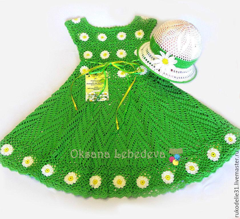 Авторские платья крючком для девочки