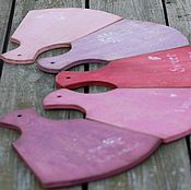 Для дома и интерьера ручной работы. Ярмарка Мастеров - ручная работа доски разделочные комплект сиреневая ягодная радуга. Handmade.