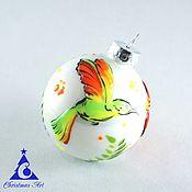 Подарки к праздникам ручной работы. Ярмарка Мастеров - ручная работа Елочный шар, новогодние игрушки, елочная игрушка, стекло Neon Тропики. Handmade.