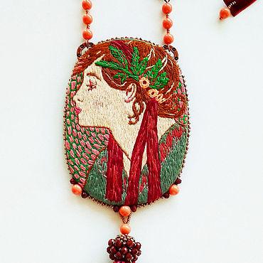 Decorations handmade. Livemaster - original item Laurel pendant based on the works of Alphonse Mucha author`s handwork. Handmade.