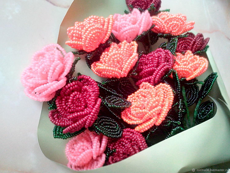 Букеты ручной работы. Ярмарка Мастеров - ручная работа. Купить Букет роз. Handmade. Цветы, подарок на день рождения
